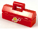 Part No: 98368pb002  Name: Minifigure, Utensil Toolbox with White Classic Space Logo Pattern