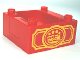 Part No: 98456pb01  Name: Duplo, Train Cab / Tender Base with Bottom Tubes and Train in Oval Pattern on Both Sides