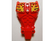 Part No: 98569pb02  Name: Hero Factory Full Torso Armor with Yellow Flames Pattern (Furno)