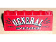 Part No: BA003pb03  Name: Stickered Assembly 6 x 1 x 2 with 'GENERAL STORE' Pattern (Sticker) - Set 6765 - 2 Bricks 1 x 6