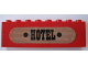 Part No: BA009pb07  Name: Stickered Assembly 8 x 1 x 2 with Black 'HOTEL' Pattern (Sticker) - Set 365 - 2 Bricks 1 x 8