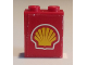 Part No: BA014pb03  Name: Stickered Assembly 2 x 1 x 2 with Shell Logo on Red Background Pattern (Sticker) - Set 1253-1 - 2 Brick 1 x 2