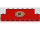 Part No: BA038pb01  Name: Stickered Assembly 8 x 1 x 2 with Number 16 in Oval Pattern (Sticker) - Set 1620-2 - 1 Brick 1 x 8, 1 Brick 1 x 6