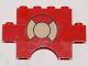 Part No: BA039pb01  Name: Stickered Assembly 6 x 1 x 3 with Life Preserver Pattern (Sticker) - Set 369 - 1 Brick 1 x 4, 1 Brick 1 x 6, 1 Brick Arch 1 x 4