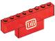 Part No: BA042pb01  Name: Stickered Assembly 8 x 1 x 2 with DB Logo Pattern (Sticker) - Set 7740-1 - 1 Brick 1 x 8, 1 Brick 1 x 4