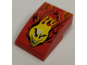 Part No: BA043pb02  Name: Stickered Assembly 2 x 3 x 1 with Flaming Head Pattern (Sticker)  - Set 8667 - 2 Slopes Curved 3 x 1 No Studs