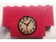 Part No: BA066pb01  Name: Stickered Assembly 6 x 1 x 3 with Clock Pattern (Sticker) - Set 590 & 374-1 - 2 Bricks 1 x 6, 1 Brick 1 x 4