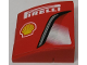 Part No: BA074pb02L  Name: Stickered Assembly 3 x 3 x 1 with 'PIRELLI', Shell Logo and Intake Pattern Model Left Side (Sticker) - Set 8143 - 3 Slopes Curved 3 x 1 No Studs, 1 Plate 1 x 3