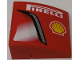 Part No: BA074pb02R  Name: Stickered Assembly 3 x 3 x 1 with 'PIRELLI', Shell Logo and Intake Pattern Model Right Side (Sticker) - Set 8143 - 3 Slopes Curved 3 x 1 No Studs, 1 Plate 1 x 3