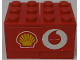 Part No: BA109pb01L  Name: Stickered Assembly 3 x 4 x 2 with Shell and Vodafone Logos Model Left Side (Sticker) - Set 8654 - 2 Container, Cupboard 2 x 3 x 2