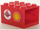 Part No: BA109pb02R  Name: Stickered Assembly 4 x 3 x 2 with Shell and Vodafone Logos Pattern Model Right Side (Sticker) - Set 8672 - 2 Container, Cupboard 2 x 3 x 2