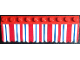 Part No: BA130pb01  Name: Stickered Assembly 3 x 10 x 1 with Blue and Red Awning Pattern (Sticker) - Set 6372-1 - 2 Slope 33 3 x 4, 1 Slope 33 3 x 2