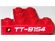Part No: BA133pb01  Name: Stickered Assembly 4 x 3 x 2/3 with Fire Logo and 'TT-8154' Pattern (Sticker) - Set 8154 - 2 Plates 1 x 1, 1 Plate 1 x 4, 1 Plate 2 x 3