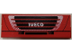 Part No: BA135pb01  Name: Stickered Assembly 2 x 6 with White 'IVECO', Black and Red Grille Pattern (Sticker) - Set 8654 - 2 Tiles 1 x 6