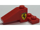 Part No: BA185pb01L  Name: Stickered Assembly 4 x 2 x 1 1/3 with Ferrari Logo On Red Background Pattern Model Left Side (Sticker) - Set 2556 - 1 Slope 33 3 x 1, 1 Plate 2 x 2 Corner