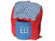 Part No: BeachHut  Name: Duplo Cloth Beach Hut with Blue Door, Blue and White Checkered Roof (Set 3609)