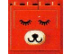 Part No: bb0049  Name: Duplo, Brick 2 x 4 x 2 with Dog Face - Eyes Open and Close