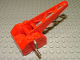Part No: bb0073  Name: String Reel Winch 4 x 4 x 2 with Sloped Top, Metal Handle, Red Drum and Crane Arm