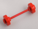 Part No: fabwheel3  Name: Wheel Pair Small with Center Stud fixed on Same Color Axle (Fabuland Stroller / Skateboard)