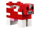 Part No: minecow02  Name: Minecraft Cow, Mooshroom - Brick Built