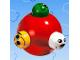 Part No: pri023c01  Name: Primo Rattle Ball with Six Knobs