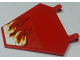 Part No: x1435pb024R  Name: Flag 5 x 6 Hexagonal with Whipping Flame on Transparent Background Pattern Model Right Side (Sticker) - Set 70721