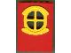 Part No: x635c02  Name: Fabuland Building Wall 2 x 6 x 7 with Round Symmetric Yellow Window