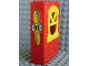 Part No: x636c02pb03  Name: Fabuland Building Wall 2 x 6 x 7 with Round Top Yellow Window and Propeller and No 71 Pattern (Sticker) - Set 3671