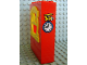 Part No: x636c02pb04  Name: Fabuland Building Wall 2 x 6 x 7 with Round Top Yellow Window and Plane and Clock Pattern (Sticker) - Set 3671