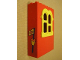 Part No: x637c02pb07  Name: Fabuland Building Wall 2 x 6 x 7 with Squared Yellow Window and Buoy with Flag Pattern (Sticker) - Set 3660