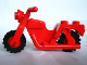Part No: x81c01  Name: Motorcycle Old with Red Wheels