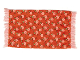 Part No: x967pb04  Name: Scala Cloth Rug with Light Salmon Flowers and Green Leaves Pattern