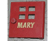 Part No: x988pb01  Name: Duplo Door / Window Pane with Four Windows Narrow and Mary Pattern