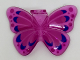 Part No: 29590pb01  Name: Minifigure, Wings Butterfly with Magenta and Blue Pattern