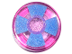 Part No: 98138pb063  Name: Tile, Round 1 x 1 with Blue and Medium Lavender Pinwheel Pattern