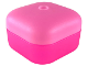 Part No: clikits114c02  Name: Clikits Container Box, Square with 1 Hole - Bottom with Bright Pink Clikits Container Box, Square with 1 Hole - Lid (clikits114 / clikits115)