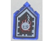 Part No: 22385pb059  Name: Tile, Modified 2 x 3 Pentagonal with Nexo Forbidden Power Shield Pattern - Wrecking Wrath