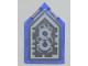 Part No: 22385pb061  Name: Tile, Modified 2 x 3 Pentagonal with Nexo Forbidden Power Shield Pattern - Horrible Hunger