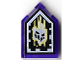 Part No: 22385pb115  Name: Tile, Modified 2 x 3 Pentagonal with Nexo Forbidden Power Shield Pattern - Malicious Melting