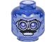 Part No: 28621pb0019  Name: Minifigure, Head Silver Goggles, Black Moustache, Smile Pattern - Vented Stud