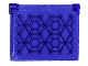 Part No: 60603pb017  Name: Glass for Window 1 x 4 x 3 - Opening with Hexagons and Diamonds Pattern (Sticker) - Set 76103