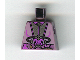 Part No: 973px157  Name: Torso SW Silver and Purple Utility Gear Pattern (Zam)