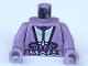 Part No: 973px157c01  Name: Torso SW Silver and Purple Utility Gear Pattern (Zam) / Sand Purple Arms / Sand Purple Hands