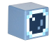 Part No: 19729pb015  Name: Minifigure, Head Modified Cube with Minecraft Skin 4 Pattern