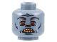 Part No: 3626bpb0010  Name: Minifigure, Head Alien with HP Troll, Eyebrows, Red Eyes, Teeth Pattern - Blocked Open Stud