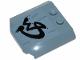 Part No: 45677pb114  Name: Wedge 4 x 4 x 2/3 Triple Curved with Black Graffiti Pattern (Sticker) - Set 70829