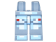 Part No: 970c00pb0568  Name: Hips and Legs with Pixelated Bright Light Blue and White Spacesuit Pattern