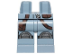Part No: 970c00pb0581  Name: Hips and Legs with Silver Knee Pads and Dark Brown Bag and Belt Pattern