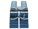 Part No: 970c63pb07  Name: Hips and Dark Blue Legs with SW U-Wing/Y-Wing Pilot Pockets and Sand Blue Belts Pattern