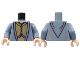 Part No: 973pb0742c01  Name: Torso Harry Potter Dumbledore Dress Robe with Vest Pattern / Sand Blue Arms / Light Nougat Hands